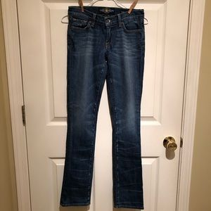 Lucky Brand Jeans size 2/26 Zoe Straight denim